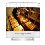 Anthony Howarth Collection - Gold- The Diligent Clerk Shower Curtain