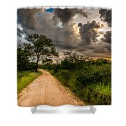 The Dirt Road Shower Curtain