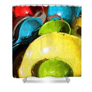 The Dishes Shower Curtain