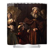 The Dismissal Of Hagar, 1650 Shower Curtain by Jan Victors