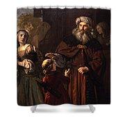 The Dismissal Of Hagar, 1650 Shower Curtain