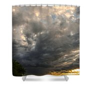 The Displeasure Of The Gods Shower Curtain