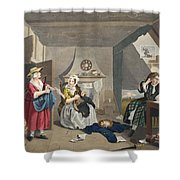 The Distressed Poet, Illustration Shower Curtain