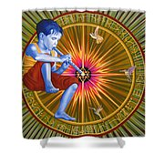 The Divine Flute Shower Curtain