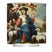 The Divine Shepherdess Shower Curtain