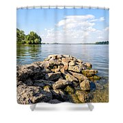 The Dnieper River In Kiev Shower Curtain
