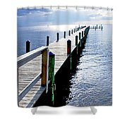 The Dock Of The Bay Shower Curtain