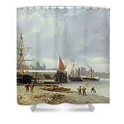 The Docks On The Bank At Greenwich  Shower Curtain