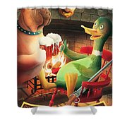 The Dog & Duck Shower Curtain