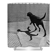 The Dog -and The Cat- Shower Curtain