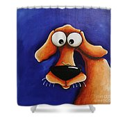 The Dog And The Caterpillar Shower Curtain