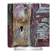 The Door Knob Shower Curtain