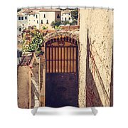 The Door With Overview Of Ronda Shower Curtain
