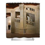 The Double-helix Staircase Chateau Chambord - France Shower Curtain