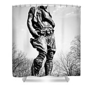 The Doughboy - Tribute To The American Expeditionary Forces Of World War 1 Shower Curtain by Gary Heller