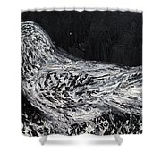 The Dove - Oil Portrait Shower Curtain