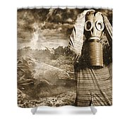 The Downfall Shower Curtain