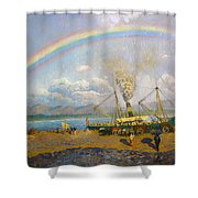 The Downpour  Shower Curtain