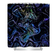 The Dragon Behind The Mask  Shower Curtain