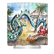 The Dragon From Penicosla Shower Curtain