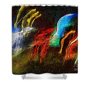 The Dragons Of Desire Shower Curtain