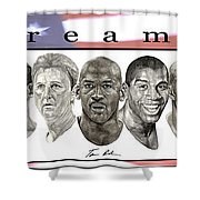 the Dream Team Shower Curtain by Tamir Barkan