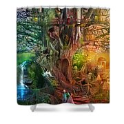 The Dreaming Tree Shower Curtain by Aimee Stewart