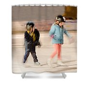 The Dreams Of Little Skaters  Shower Curtain