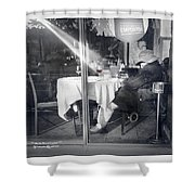 The Drunk Homeless  Shower Curtain