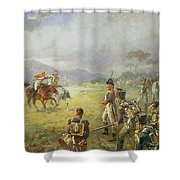 The Duel  Fair Play Shower Curtain by Robert Alexander Hillingford
