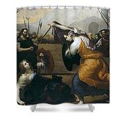 The Duel Of Isabella De Carazzi And Diambra De Pottinella Shower Curtain