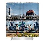 The Duke Of Graffiti Shower Curtain by Adrian Evans