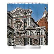 The Duomo And Baptistery Of St. John Shower Curtain