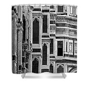 The Duomo Black And White Shower Curtain