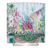 The Dwellers Shower Curtain