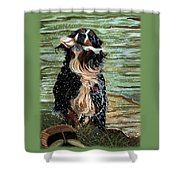 The Early Berner Catcheth Phone Shower Curtain