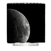 The Earth And Moon Shower Curtain