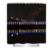 The East Falls Bridge At Night - Philadelphia Shower Curtain