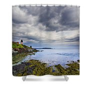 The Eastern Most Point In The U.s.a  Shower Curtain by Mircea Costina Photography