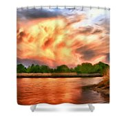 The Eastern Shore Shower Curtain