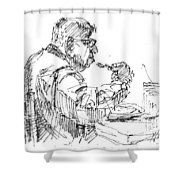 The Eater Shower Curtain