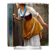 The Eavesdropper Shower Curtain