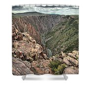 The Edge Of Back Canyon Shower Curtain