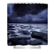 The Edge Of Forever Shower Curtain by Jorge Maia