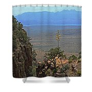 The Edge Of Parker Canyon Shower Curtain
