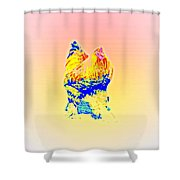 The Egg Warmer Is Flying Again  Shower Curtain