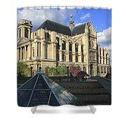 The Eglise De Saint-eustache Paris France  Shower Curtain