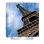 The Eiffel Tower From Below Shower Curtain by Nila Newsom