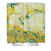 The Elderflower Tree Oil On Canvas Shower Curtain