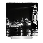 The Electric Tower Pan American Exposition Buffalo New York 1901 Shower Curtain